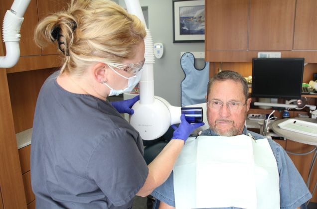 X-ray of teeth being taken